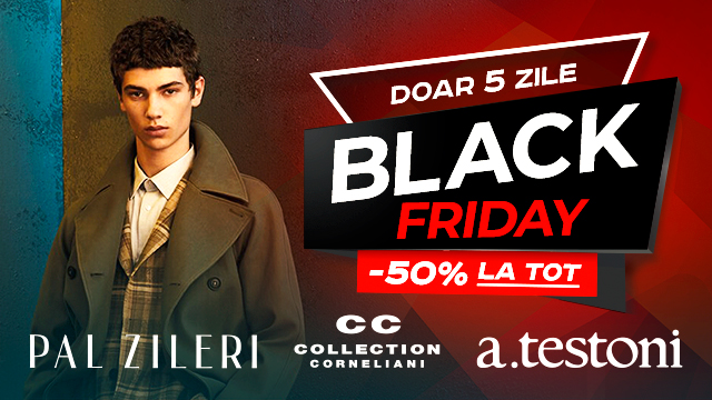 Pal Zileri, CC Collection Corneliani, A. Testoni: Black Friday -50% la totul