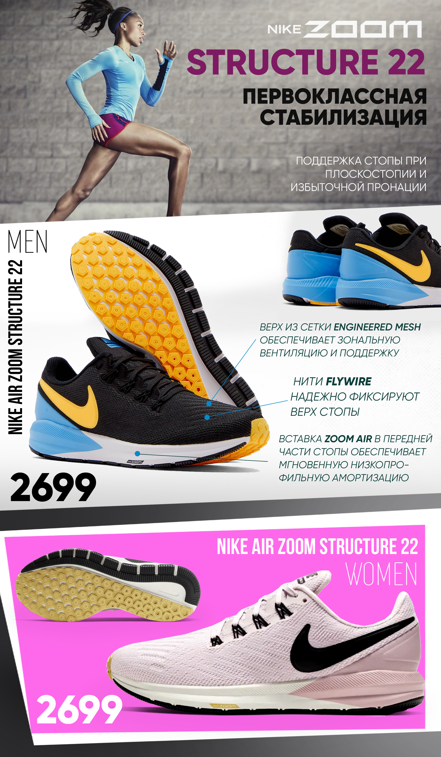 nike zoom structure